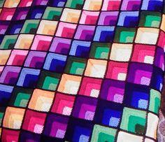 Todo crochet: Magnífica manta cubrecama al crochet