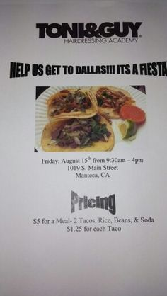 Come out and support the students!!! Tacos this friday, Car Wash and Carnival this Saturday!!!