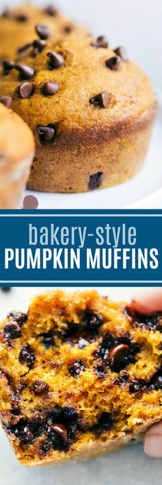 The BEST EVER Bakery-Style Pumpkin Muffins! chelseasmessyapron.com