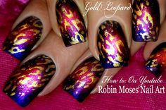Oh, how I love me some Robin Moses nail art! Nail Art Blog, Nail Art Videos, Marble Nail Designs, Nail Art Designs, Nail Tutorials, Design Tutorials, Gradient Nails Tutorial, Nail Art Instagram, Robin Moses