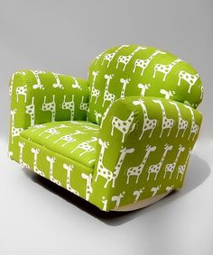 Take a look at this Green Giraffe Rocking Chair  by Funky Kids by Mauricio's Furniture on #zulily today!