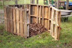 It's surprisingly easy to build a backyard compost bin on the cheap using recycled shipping pallets.