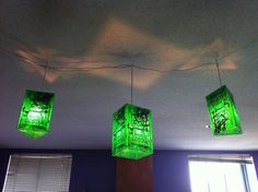These circuit board lights over on IKEA Hackers are perfect for any geektastic decor. [via Crafty Crafty]