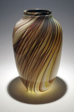 "Yukimi Matsumota, ""Sequoia Vase"" .: Kittrell/Riffkind Art Glass :. Neutral Color Scheme, Color Schemes, Glass Art, Contemporary Art, Vase, Home Decor, R Color Palette, Decoration Home, Room Decor"