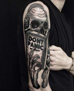 Don't Panic Skeleton