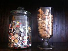 Love the bottle cap idea!  (I got the corks covered!)