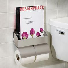 Simple Bathroom Magazine Racks