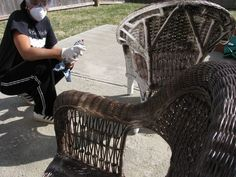 How to paint wicker furniture - video