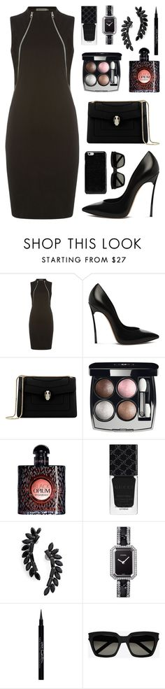 """B L A C K"" by fashionwwonderland ❤ liked on Polyvore featuring Calvin Klein…"