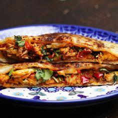 Chili Chicken-stuffed Parathas by Tasty