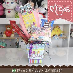 Tus anchetas completamente personalizadas desde $10.000 , regala sonrisas, regala #Migas #Anchetas #FábricadeSueños #Regalos #Love