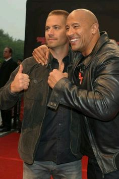 Paul Walker and Dwanye Johnson