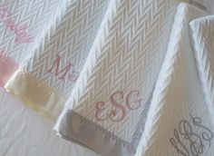 Forever Blanket throws and baby blanket monograms. Made in USA. Swell Forever. Baby Gifts.