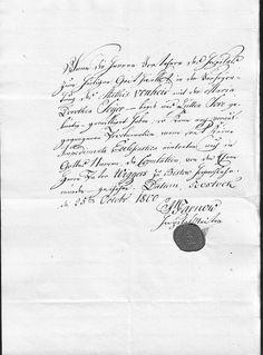 Eheerlaubnis von Matthies von der Heide & Marie Dorothea Seyer - Rostock 25 Okt 1800