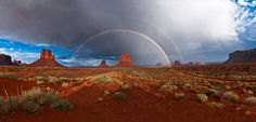 Rainbow. Monument Valley, Arizona
