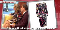 Where did Charlotte Hawkins get her black floral dress from on Good Morning Britain - Style on Screen Charlotte Hawkins, Good Morning Britain, Ted Baker, Dresses With Sleeves, Long Sleeve, Floral, How To Wear, Black, Style