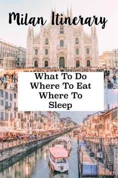 Full Milan Itinerary. What To Do In Milan, Italy #italytravelinspiration