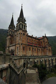 Basílica de Covadonga, Cangas de Onis, Asturias, Spain.
