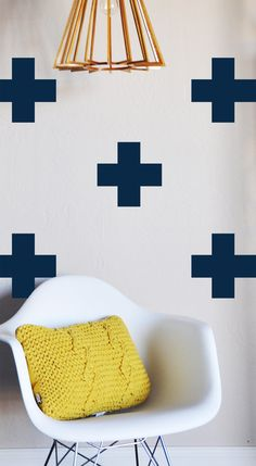 LARGE CROSSES   -Wall Decal