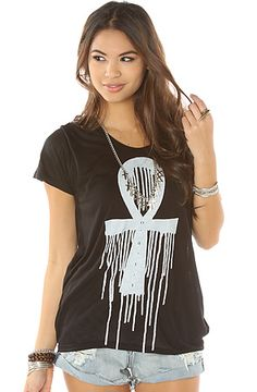 The Cruz Ansata Beau Tee in Black by Obey  use rep code: OLIVE for 20% off