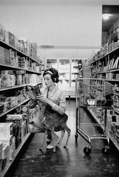 you might be cool, but you'll never be Audrey Hepburn at the supermarket with her deer cool