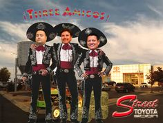 "http://youtu.be/YvQ-doHlHXw Shooting down high prices is their specialty! Come let the ""Tres Amigos de Street Toyota"" Charlie Vasquez, Armando Solis and Jorge Coto help you get your brand new Toyota or one of our Certified Pre-Owned vehicles today... Olé!"