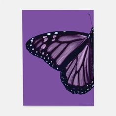 Small Canvas Paintings, Easy Canvas Art, Small Canvas Art, Cute Paintings, Mini Canvas Art, Drawing On Canvas, Easy Canvas Painting, Purple Painting, Butterfly Acrylic Painting