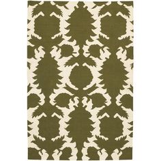 Thomas Paul Flat-weave Dhurrie Green/Cream Flock Rug  #projectnursery #franklinandben #nursery