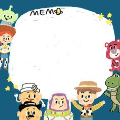 toy drawing toy story memo, by sleepyymoo Cute Notes, Good Notes, Disney Wallpaper, Cartoon Wallpaper, Wood Toy Story, Dibujos Toy Story, Memo Notepad, Note Doodles, Note Memo