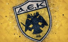 Download wallpapers AEK Athens FC, 4k, logo, geometric art, yellow abstract background, Greek football club, emblem, Super League Greece, creative art, Athens, Greece, football Latest Hd Wallpapers, Sports Wallpapers, Wallpaper Online, Wallpaper S, Ice Painting, Geometric Logo, Original Wallpaper, Designer Wallpaper, Abstract Backgrounds