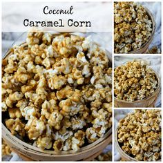 Coconut Caramel Corn is made with coconut oil and tastes amazing. Simple, delicious and yet subtle coconut flavor add a layer of deliciousness to this caramel corn that everyone will love!