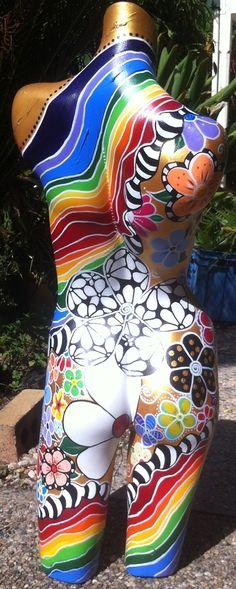 The back of twist body art