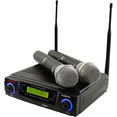 Pyle-Pro PDWM3300 Wireless Professional UHF Dual Channel Microphone System With 2 Microphones and Adjustable frequency PylePro,http://www.amazon.com/dp/B004HJ5E8I/ref=cm_sw_r_pi_dp_qSFUsb1YY5E4B7S2