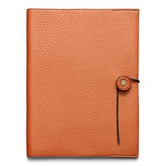 Coach Bleecker Pebbled Leather A5 Notebook (1,115 CNY) ❤ liked on Polyvore featuring home, home decor, stationery, fillers, books, accessories, notebooks, bags, orange and magazine