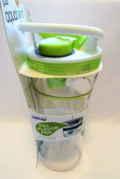 Cool Gear Aqua Burst Beverage Travel Cup Mug With Flavor Burst Pump Lime Green #CoolGear