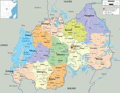 Detailed large political map of Guinea Bissau showing names of