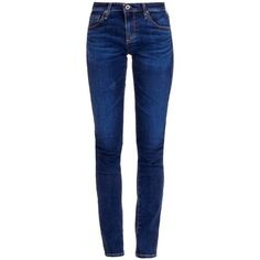 See this and similar AG Adriano Goldschmied skinny jeans - Blue denim 5 pocket super skinny jeans from AG Adriano Goldschmied with mid rise and slight washed ef...