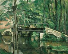 The Bridge at Maincy (Le Pont de Maincy) 1879 Paul Cezanne French) Oil on canvas Musee dOrsay Paris France Canvas Art - Paul Cezanne x Paul Cezanne, Cezanne Art, Aix En Provence, Matisse, Oil On Canvas, Canvas Art, Classic Paintings, Modern Paintings, Oil Painting Reproductions
