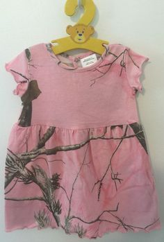 Bass Pro Shops Realtree APC Pink short sleeve Little Girls dress Size 6 Months #BassProShops #Everyday