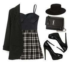 """""""Sin título #13258"""" by vany-alvarado ❤ liked on Polyvore featuring adidas NEO, Brian Atwood and Yves Saint Laurent"""