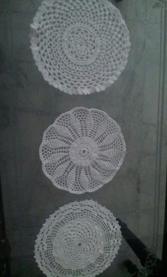 Three different doilies!!