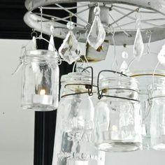 mason jar fixture.