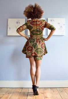 Women Short Wax Print Short  African print  shorts ankara