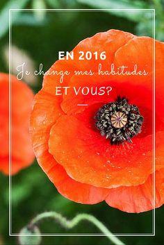 Une lettre à 2016, mes vœux pour cette nouvelle année et mon intention pour cette nouvelle page à écrire... Changer mes habitudes!