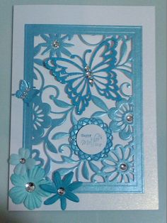 Happy Mother's day card, Spellbinders Butterfly Magic die