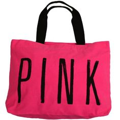 Victoria's Secret PINK LOVE PINK Zipper Weekender Canvas Beach Gym Tote Bag-Candy Pink with Graffiti Script