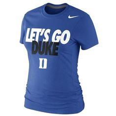 Nike Duke Blue Devils Ladies Let's Go Duke 2013 Local T-Shirt - Duke Blue
