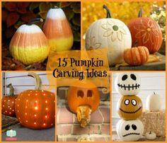 Carving Ideas Pumpkin Face and Pumpkin