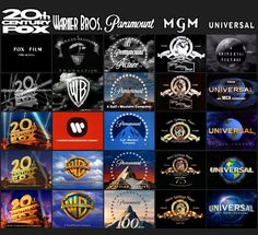 La Evolución de los Logos / the evolution of / 20th century fox / warner bros. / Paramount pictures / metro goldwyn mayer/ Universal Pictures