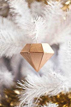 Balsa wood diamond ornament.